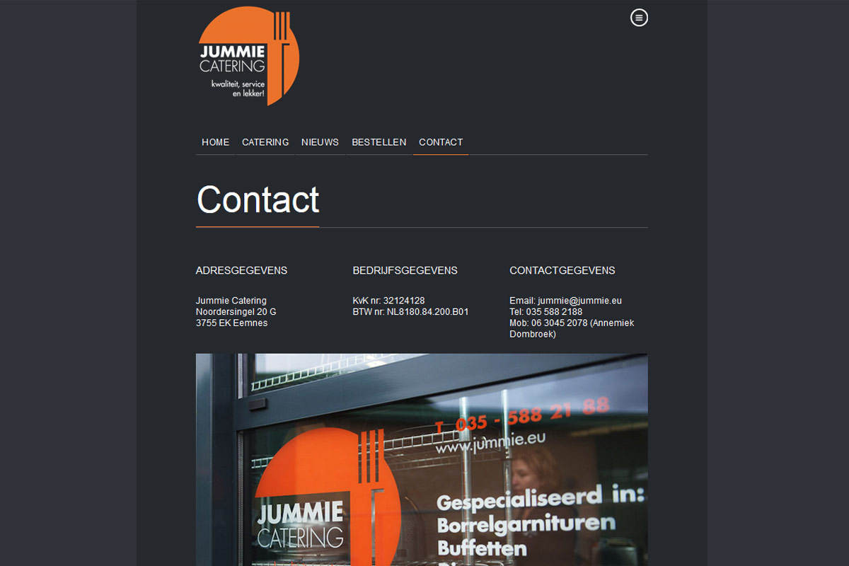 jummie-catering-contact-codegroen-website-ontwikkeling